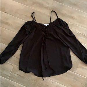 Black fashion blouse.